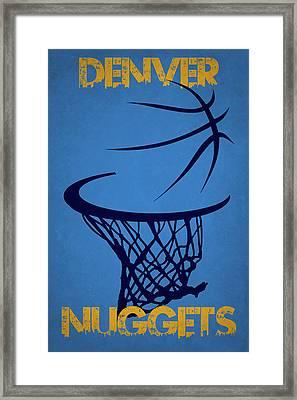 Denver Nuggets Hoop Framed Print