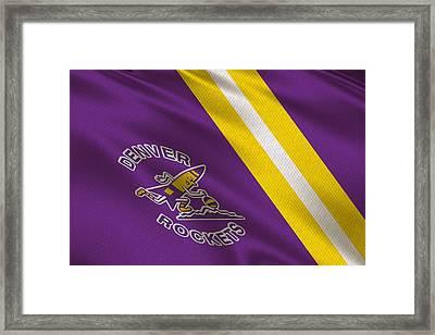 Denver Rockets Uniform Framed Print by Joe Hamilton