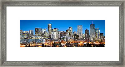 Denver Twilight Framed Print