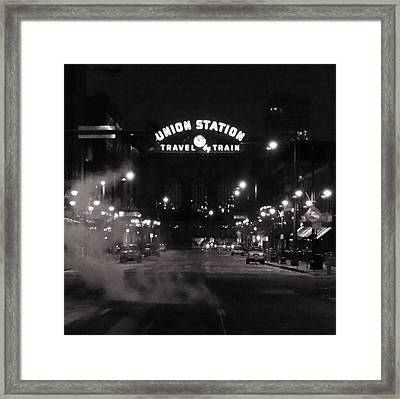 Denver Union Station Square Image Framed Print