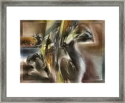 Framed Print featuring the pastel Denverartgallerycomp 2010 by Glenn Bautista