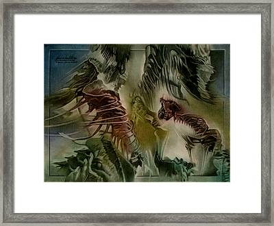Framed Print featuring the pastel Denverdinocomp 2010 by Glenn Bautista