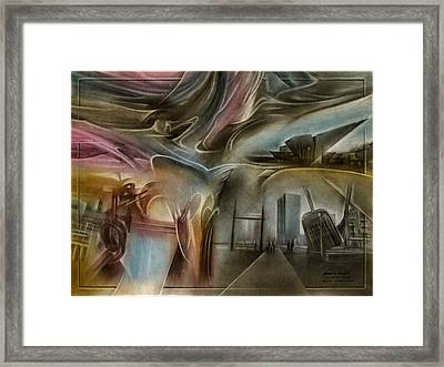 Framed Print featuring the pastel Denvermuseumcomp 2010 by Glenn Bautista