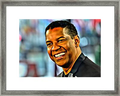 Denzel Washington Framed Print