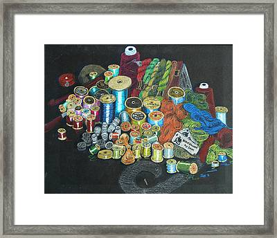 Framed Print featuring the drawing Deons Sewing Den by Joseph Hawkins