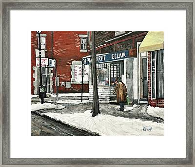 Depanneur Arret Framed Print by Reb Frost