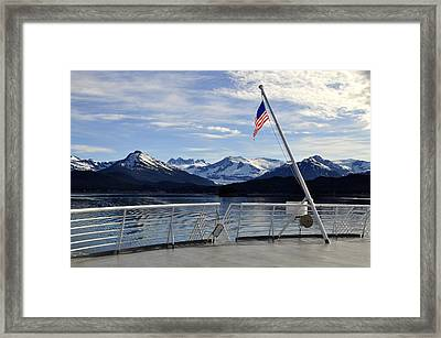 Framed Print featuring the photograph Departing Auke Bay by Cathy Mahnke