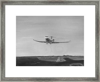Departing Runway Nine Boston Framed Print by Jon Castillo