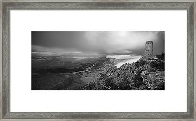 Departing Storm Grand Canyon At Desert View Framed Print