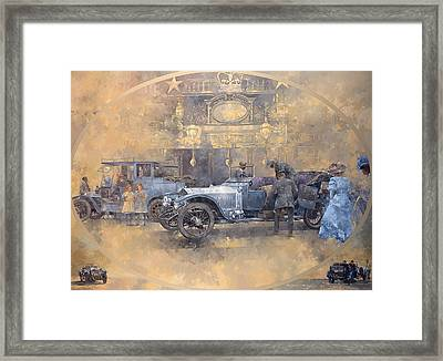Departure For Christmas Oil On Canvas Framed Print by Peter Miller