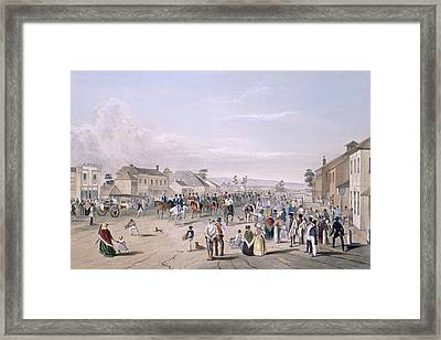 Departure Of Captain Sturt Framed Print by George French Angas