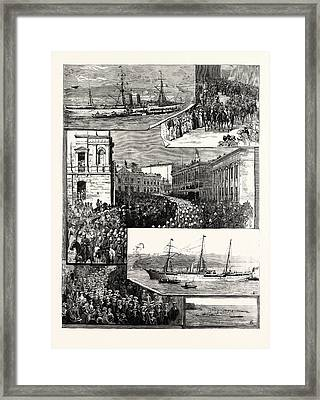 Departure Of The New South Wales Contingent From Sydney Framed Print by African School