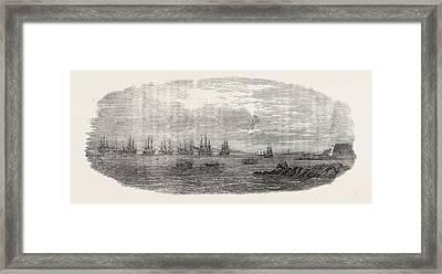 Departure Of The Ocean French Fleet From Brest, France Framed Print