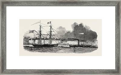 Departure Of The Renewed Branch Expedition In Search Of Sir Framed Print by English School