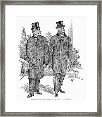 Depew And Lodge, 1902 Framed Print by Granger