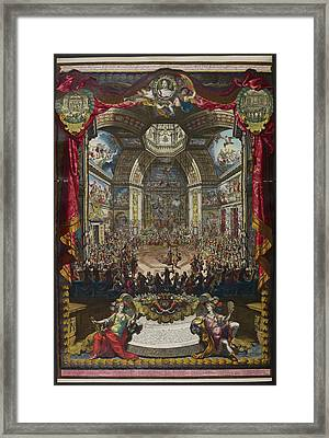 Depiction Of The Great Ball Framed Print by British Library