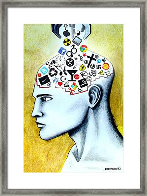 Deposit For The Control Of Ignorance Fear Alienation And Slavery Framed Print by Paulo Zerbato