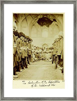 Deposition Of Shah Muhammad Ali Framed Print by British Library