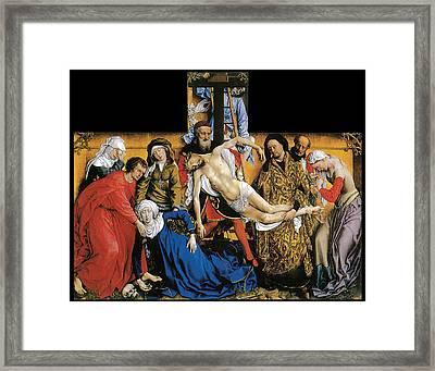 Deposition Framed Print by Rogier Van Der Weyden