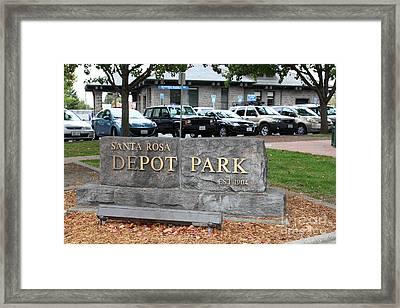 Depot Park At Historic Railroad Square Santa Rosa California 5d25821 Framed Print