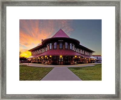 Depot Sunset Framed Print