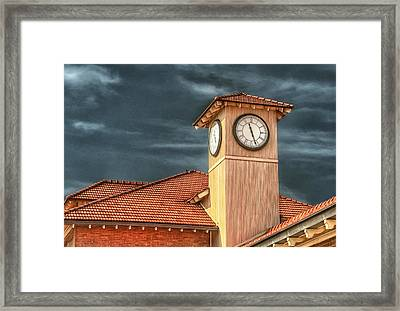 Depot Time Framed Print by Brenda Bryant