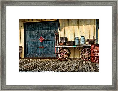 Framed Print featuring the photograph Depot Wagon by Kenny Francis