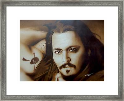 Johnny Depp - ' Depp II ' Framed Print by Christian Chapman Art