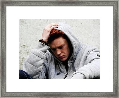 Depressed Teenager Framed Print
