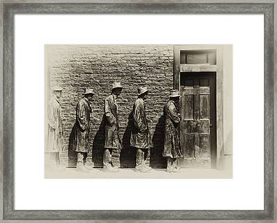 Depression Era Bread Line Framed Print