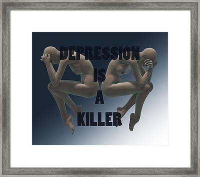 Depression Is A Killer Framed Print by Sir Josef - Social Critic - ART