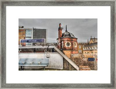 Framed Print featuring the photograph Deptford Station by Ross Henton
