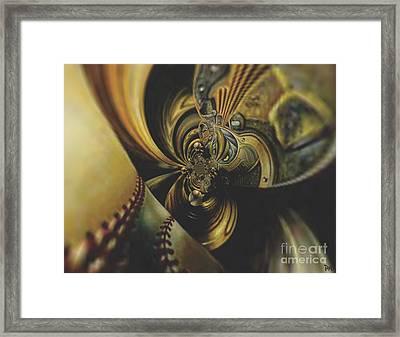 Depth Chart Framed Print by Maria Watt