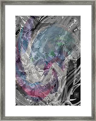 Framed Print featuring the digital art Depth by Kelly McManus