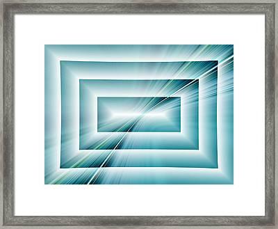Depth Of Field-reflection Framed Print by Tom Druin