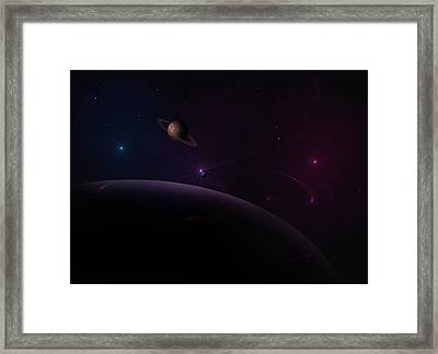 Depth Of Space Framed Print by Ricky Haug