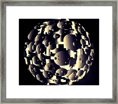 Framed Print featuring the digital art Depth Of Thought by Susan Maxwell Schmidt