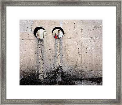 Depth Perception Framed Print by Lin Haring