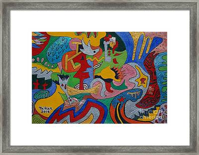 Depth Psychology By Taikan Framed Print by Taikan Nishimoto