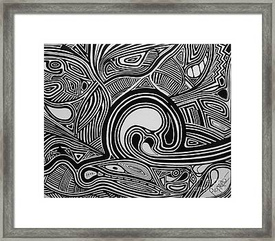 Depth1 Framed Print