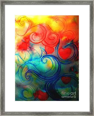 Framed Print featuring the painting Depths Of His Love by Hazel Holland