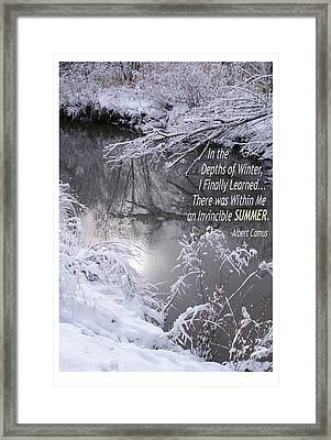 Depths Of Winter Invincible Summer Framed Print by Shawn Shea