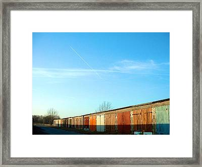 Depuis Les Garages Colores Framed Print by Marc Philippe Joly
