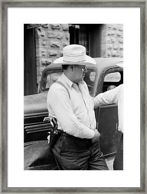 Deputy Sheriff - Mogollon New Mexico 1940 Framed Print