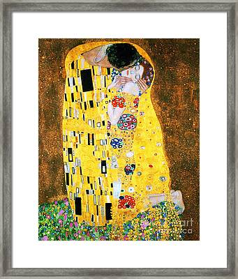 Der Kuss Or The Kiss. Framed Print by Pg Reproductions