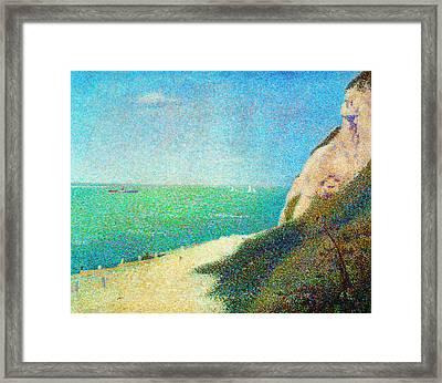 Der Strand Le Bas Butin Bei Honfleur Framed Print