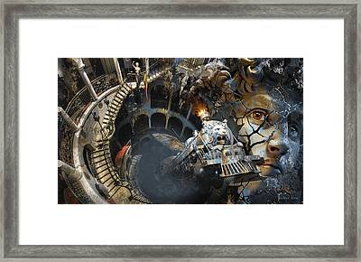 Derailment Or Train Of Thought Framed Print by George Grie