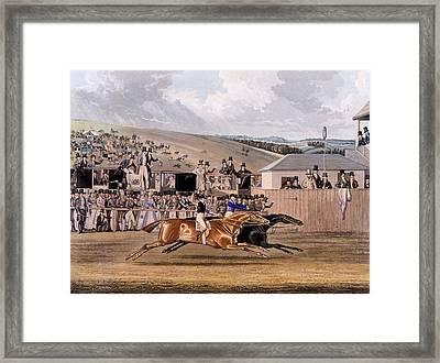 Derby Day At Epsom, 1828 Framed Print