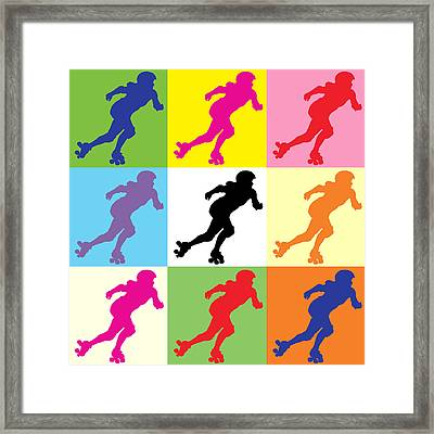 Derby Girl Pop Art Framed Print by David G Paul