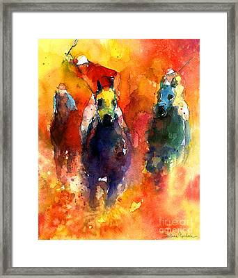 Derby Horse Race Racing Framed Print